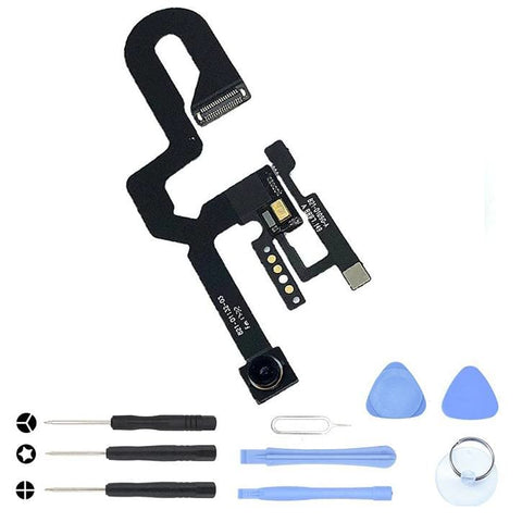Image of Front Camera and Proximity Sensor Flex Cable for iPhone 8 Plus A1864 A1897 A1898 - With Tool Kit - Cameras