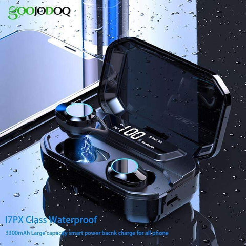 Image of G02 TWS 5.0 Bluetooth Stereo Wireless Earphones IPX7 Waterproof 3300mAh Sport headset - Accessories