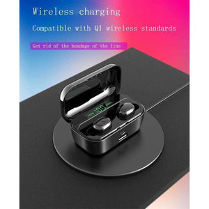 G02 TWS 5.0 Bluetooth Stereo Wireless Earphones IPX7 Waterproof 3300mAh Sport headset - Accessories