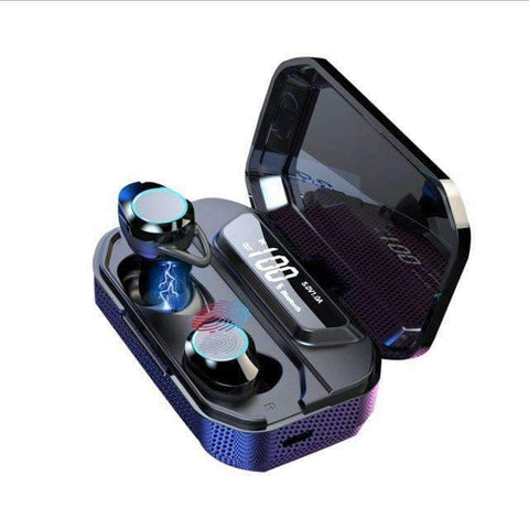 Image of G02 TWS 5.0 Bluetooth Stereo Wireless Earphones IPX7 Waterproof 3300mAh Sport headset - With digital display - Accessories