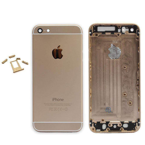 New Replacement iPhone 6 Back Housing Mid Frame Assembly - Gold - Housing Assembly