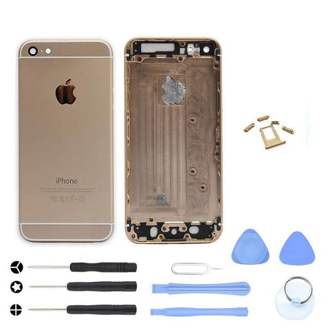 Gold Back Housing Mid Frame Assembly Replacement for iPhone 6 A1549 A1586 A1589 - With Tool Kit - Housing Assembly