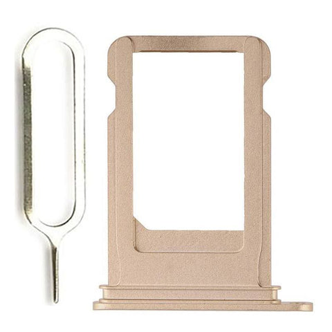 Image of New iPhone 7 SIM Card Tray Holder Replacement with Eject Tool - Gold - SIM Card Tray