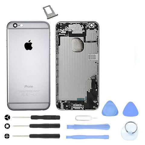 Gray Back Housing Mid Frame Assembly + Parts for iPhone 6 Plus A1522 A1524 A1593 - With Tool Kit - Housing Assembly