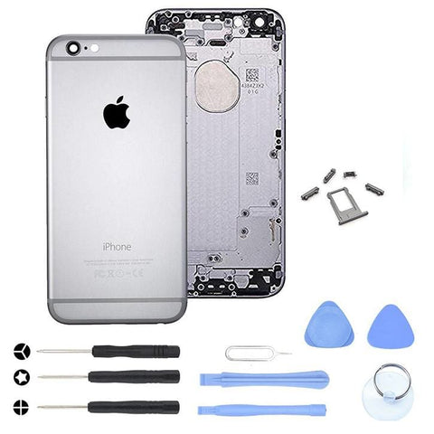 Image of Gray Back Housing Mid Frame Assembly with Parts for iPhone 6 A1549 A1586 A1589 - With Tool Kit - Housing Assembly