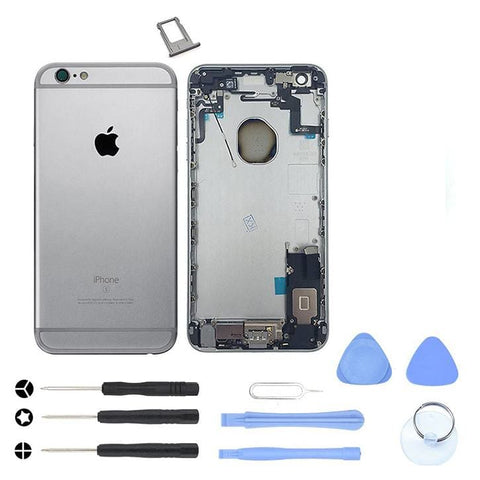 Image of Gray Back Housing Mid Frame Assembly with Parts iPhone 6S Plus A1634 A1687 A1699 - With Tool Kit - Housing Assembly