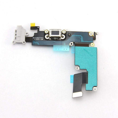 Image of New iPhone 6 Plus Charging Port + Microphone + Headphone Audio Jack Flex Cable - Gray - Charge Ports