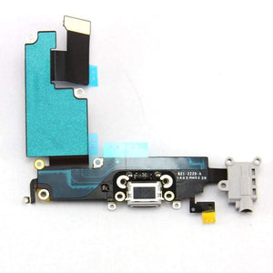 New iPhone 6 Plus Charging Port + Microphone + Headphone Audio Jack Flex Cable - Gray - Charge Ports