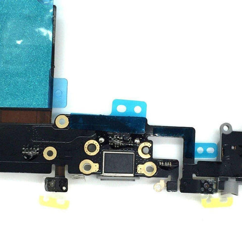 Image of iPhone 6S Plus 5.5 Gray Charge Port Microphone Headphone Audio Jack Flex Cable - Charge Ports