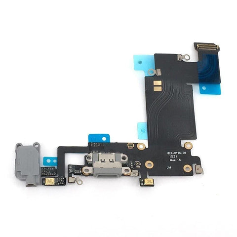 iPhone 6S Plus 5.5 Gray Charge Port Microphone Headphone Audio Jack Flex Cable - Charge Ports