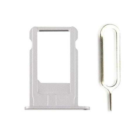 Image of New Original iPhone 6 Plus 5.5 SIM Card Tray Holder with Eject Tool - Gray - SIM Card Tray