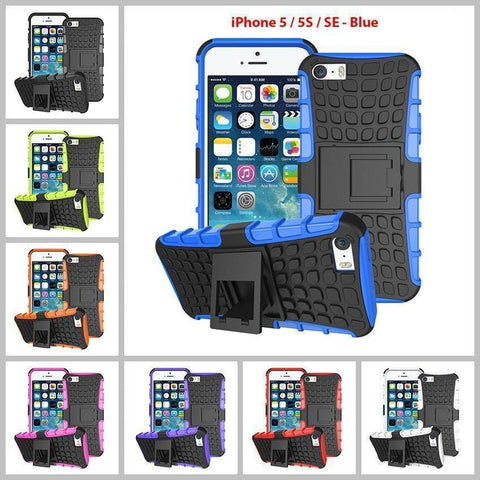 Heavy Duty Armor Phone Case Cover with Stand for iPhone 5 / 5S / SE - Cases