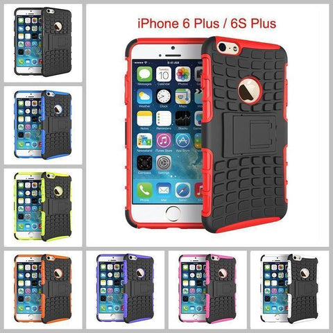 Heavy Duty Armor Phone Case Cover with Stand for iPhone 6 Plus / 6S Plus - Cases