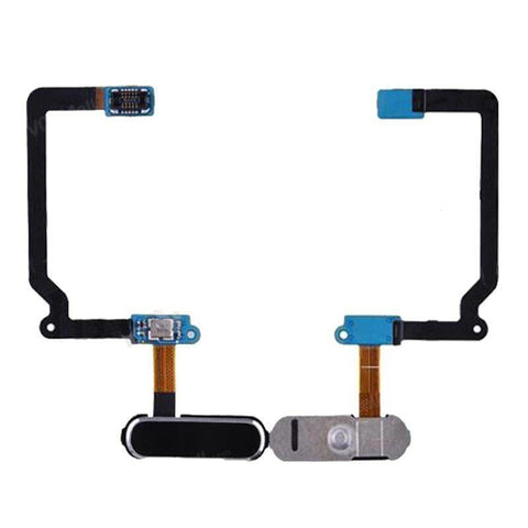Home Menu Button Fingerprint Sensor flex cable for Samsung Galaxy S5 - Black - Home Button