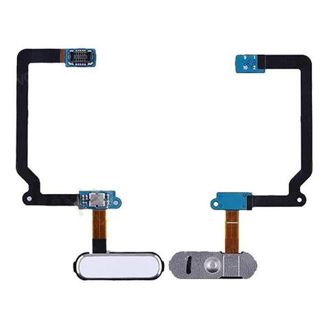 Home Menu Button Fingerprint Sensor flex cable for Samsung Galaxy S5 - White - Home Button