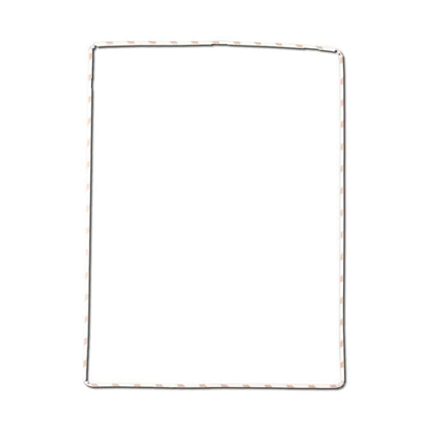 iPad 2 3 4 Digitizer LCD screen Bezel Plastic Mid-Frame with Adhesive - White - Frame