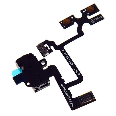 Image of iPhone 4 4G Headphone Audio Jack Volume Switch Button Flex Cable GSM - Black - Audio Jacks