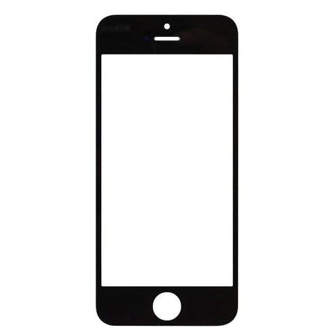 Image of iPhone 5 5C 5S Black Front Glass Lens with Adhesive and Free Tools - Front Glass