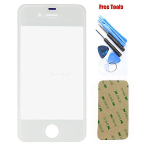 iPhone 6 6S 4.7 White Front Glass Lens with Adhesive and Free Tools - Front Glass