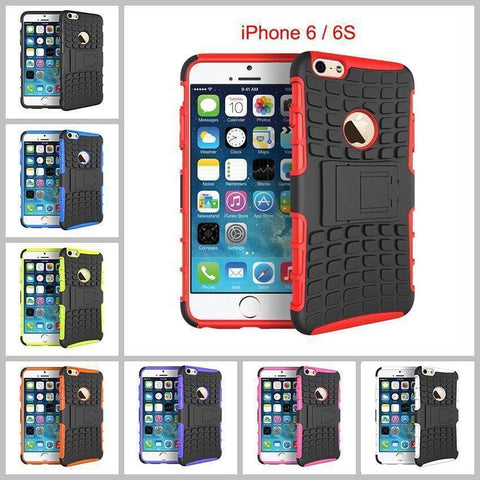 Image of iPhone 6 / 6S Heavy Duty Armor Phone Case Cover with Stand - Cases