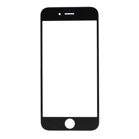 Image of iPhone 6 Plus 6S Plus 5.5 Black Front Glass Lens with Adhesive and Free Tools - Front Glass