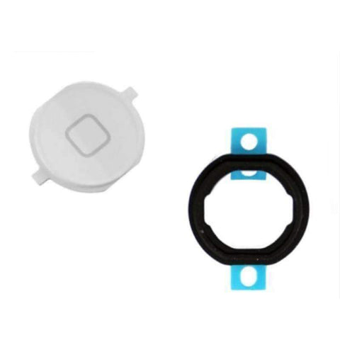 iPod Touch 4 White Home Button With Rubber Gasket - Parts