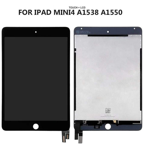 Image of Lcd Display Touch Screen Digitizer Glass Assembly for iPad Mini 4 A1538 A1550 - Black - Parts