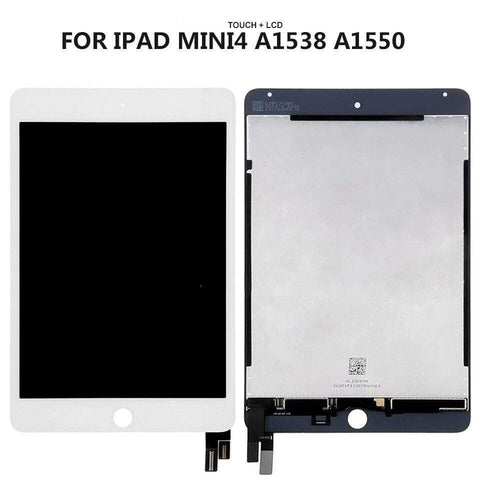 Image of Lcd Display Touch Screen Digitizer Glass Assembly for iPad Mini 4 A1538 A1550 - White - Parts