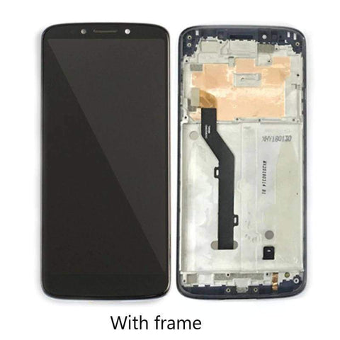 Image of LCD Touch Screen Digitizer Display Assembly for Motorola Moto G6 Play XT1922 - Black with frame - LCDs & Digitizers
