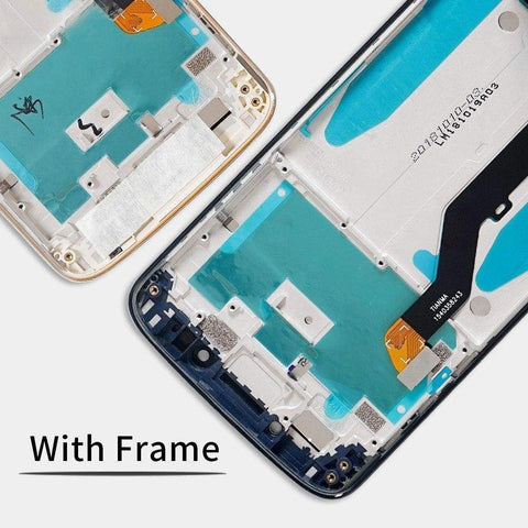 Image of LCD Touch Screen Digitizer Display Assembly for Motorola Moto G6 Play XT1922 - Gold with frame - LCDs & Digitizers