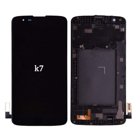 Image of LCD Touch Screen Digitizer Display for LG K7 Tribute 5 LS675 MS330 K330 - Black | With Frame - LCDs & Digitizers