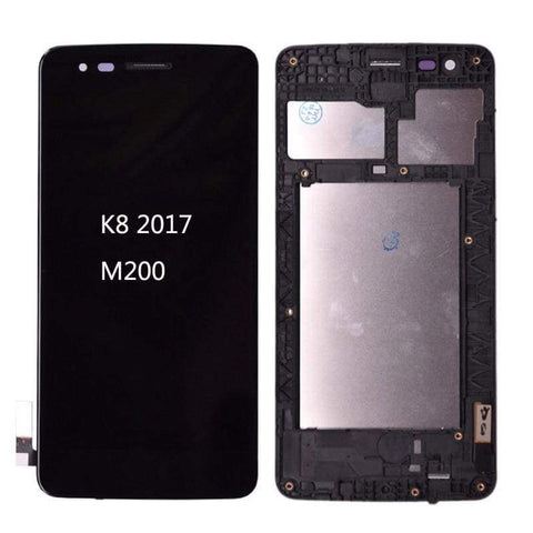 Image of LCD Touch Screen Digitizer Display for LG K8 2017 M200 M210 US215 MS210 - Black | With Frame - LCDs & Digitizers
