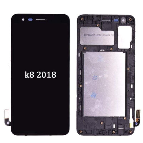 Image of LCD Touch Screen Digitizer Display for LG K8 2018 Aristo 2 SP200 MX210 - Black | With Frame - LCDs & Digitizers