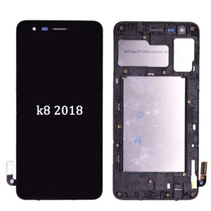 LCD Touch Screen Digitizer Display for LG K8 2018 Aristo 2 SP200 MX210 - Black | With Frame - LCDs & Digitizers