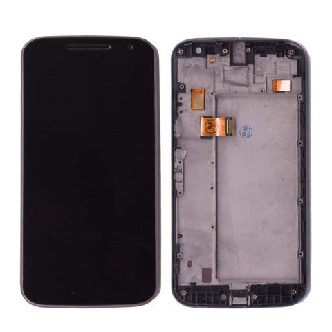 Image of LCD Touch Screen Digitizer Display for Motorola Moto G4 XT1625 XT1621 XT1624 - with frame Black - LCDs & Digitizers