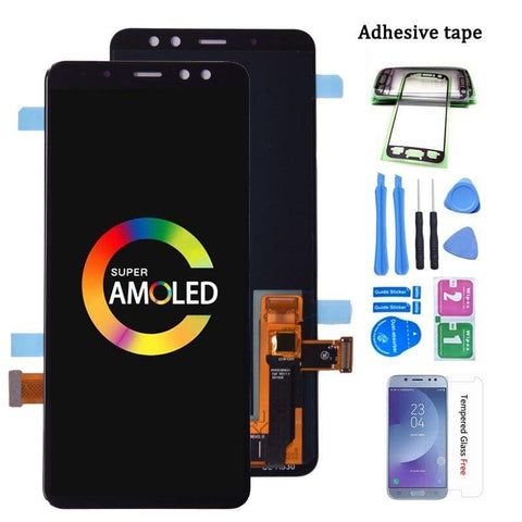 Image of LCD Touch Screen Digitizer Display for Samsung Galaxy A8 2018 A530W A530F A530 - Black - LCDs & Digitizers