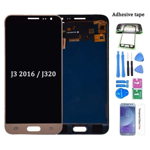 Image of LCD Touch Screen Digitizer Display for Samsung Galaxy J3 2016 J320 J320A J320W - White - LCDs & Digitizers