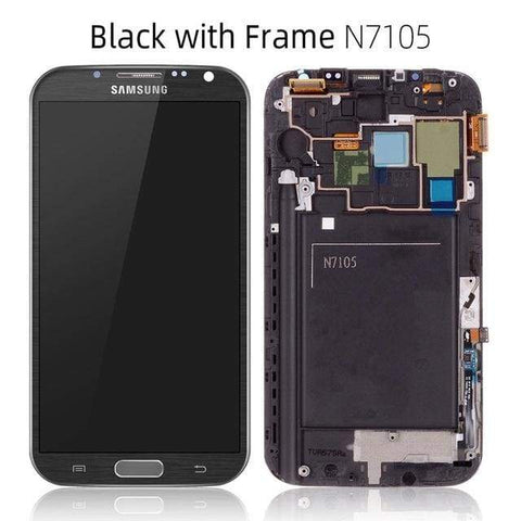 LCD Touch Screen Digitizer Display for Samsung Galaxy Note 2 N7100 N7105 I317 - N7105 Black Frame - LCDs & Digitizers