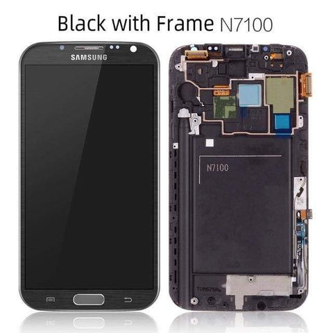 LCD Touch Screen Digitizer Display for Samsung Galaxy Note 2 N7100 N7105 I317 - N7100 Black Frame - LCDs & Digitizers