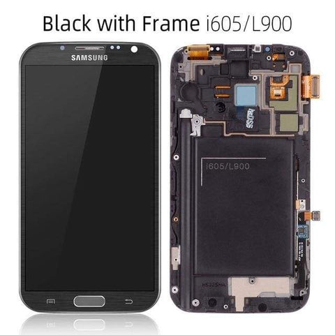 LCD Touch Screen Digitizer Display for Samsung Galaxy Note 2 N7100 N7105 I317 - L900 Black Frame - LCDs & Digitizers