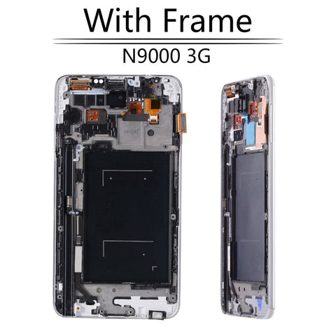 LCD Touch Screen Digitizer Display for Samsung Galaxy Note 3 SM-N900W8 SM-N900F - N9000 Black with FRam - LCD's & Digitizers