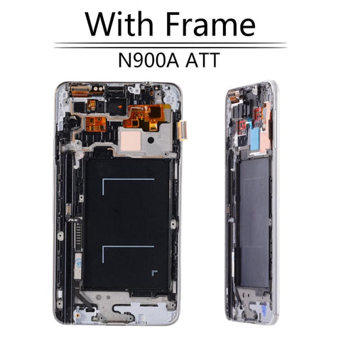 Image of LCD Touch Screen Digitizer Display for Samsung Galaxy Note 3 SM-N900W8 SM-N900F - N900A Black with FRam - LCD's & Digitizers
