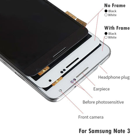Image of LCD Touch Screen Digitizer Display for Samsung Galaxy Note 3 SM-N900W8 SM-N900F - LCD's & Digitizers