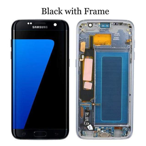 Image of LCD Touch Screen Digitizer Display for Samsung Galaxy S7 Edge G935W8 G935A G935F - Black with frame - LCDs & Digitizers