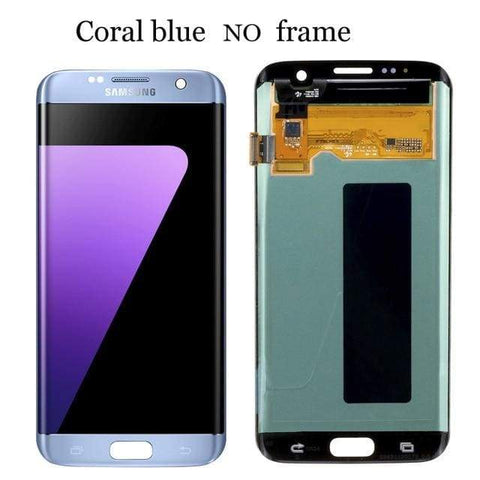 Image of LCD Touch Screen Digitizer Display for Samsung Galaxy S7 Edge G935W8 G935A G935F - Blue No Frame - LCDs & Digitizers