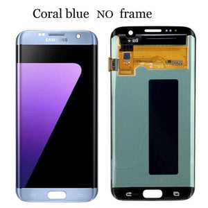 LCD Touch Screen Digitizer Display for Samsung Galaxy S7 Edge G935W8 G935A G935F - Blue No Frame - LCDs & Digitizers