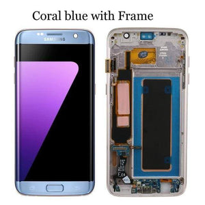 LCD Touch Screen Digitizer Display for Samsung Galaxy S7 Edge G935W8 G935A G935F - Blue with frame - LCDs & Digitizers