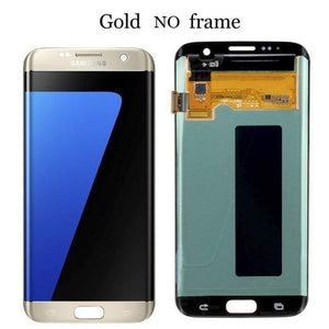 LCD Touch Screen Digitizer Display for Samsung Galaxy S7 Edge G935W8 G935A G935F - Gold No Frame - LCDs & Digitizers