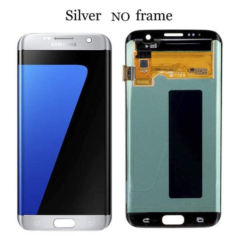Image of LCD Touch Screen Digitizer Display for Samsung Galaxy S7 Edge G935W8 G935A G935F - Silver No Frame - LCDs & Digitizers