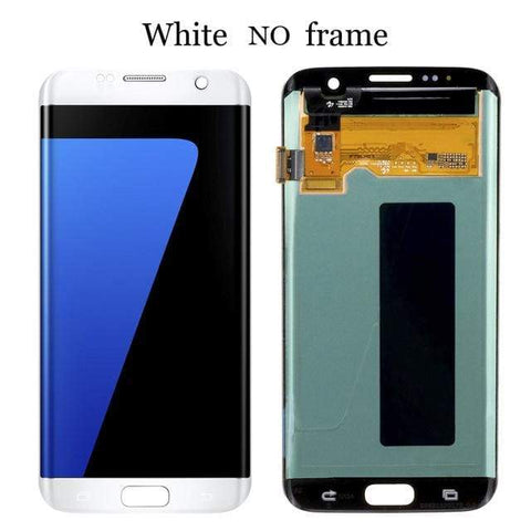 Image of LCD Touch Screen Digitizer Display for Samsung Galaxy S7 Edge G935W8 G935A G935F - White No Frame - LCDs & Digitizers